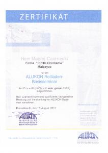 certyfikat-alukon