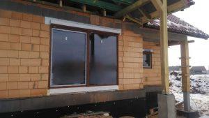 Stolarka okienna Aluplast Tecline 85 z roletami i bramą garażową